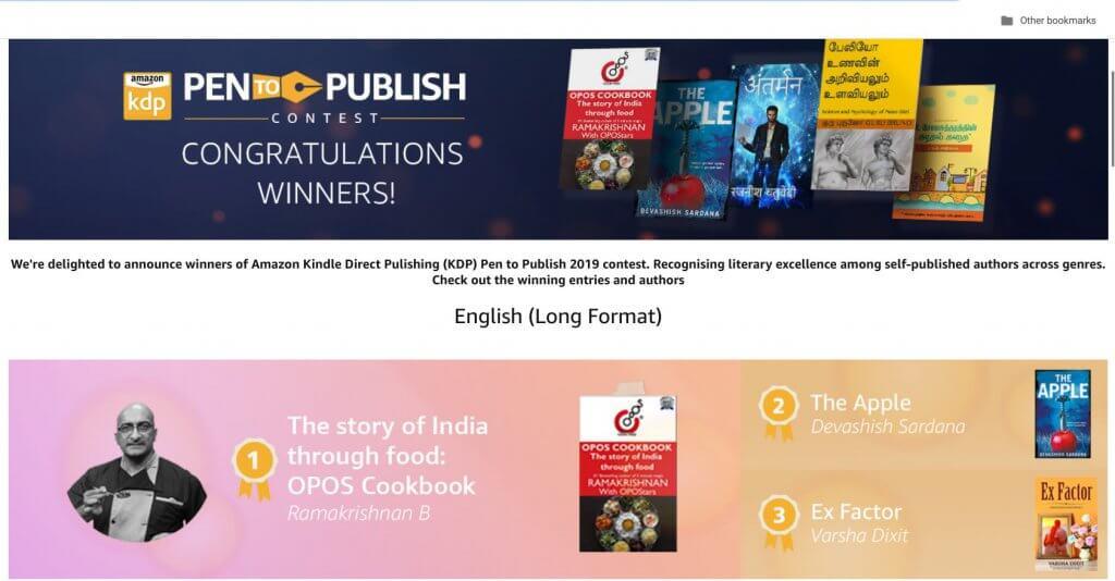 Winner - Amazon's Pen to Publish Contest 2019